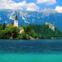 Photo taken at Blejsko Jezero / Lake Bled by ثامر ا. on 9/16/2012