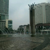 Photo taken at MH. Thamrin - Sudirman Street by mietha e. on 3/16/2014