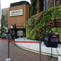 Photo taken at 大阪マルビル 緑のテラス by sukec on 8/14/2015