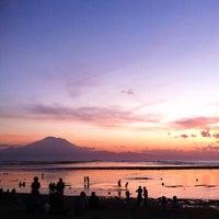 Photo taken at Pantai Segara Ayu by jakki ⚡ .. on 5/5/2014