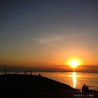 Photo taken at Pantai Segara Ayu by jakki ⚡ .. on 4/29/2013
