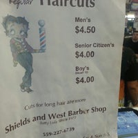 Photo taken at Shields & West Barber Shop by Amanda Himes on 8/5/2013