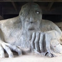 Photo taken at The Fremont Troll by C. G. on 6/9/2013