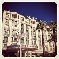 Photo taken at Grand Hyatt Cannes Hôtel Martinez by Diego F. on 2/19/2013