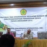 Photo taken at Hotel Banjarmasin International (HBI) by Ajun on 2/18/2014