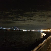 Photo taken at Ceasers Bay Park view to Verrazano-Narrows Bridge by Matthew on 9/17/2014