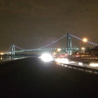 Photo taken at Ceasers Bay Park view to Verrazano-Narrows Bridge by Matthew on 3/11/2014
