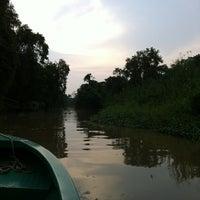 Photo taken at Kinabatangan Riverside Lodge by Joe J. on 9/28/2012