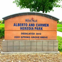 Photo taken at Alberto and Carmen Heredia Park by Jabari W. on 6/4/2016