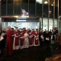 Photo taken at Haymarket Metro Station by Bex L. on 12/12/2013