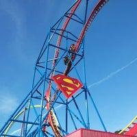 Photo taken at Superman Ultimate Flight by Alex G. on 11/3/2012