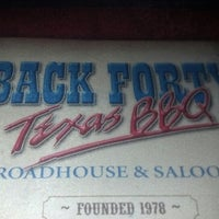 Photo taken at Back Forty Texas BBQ Roadhouse & Saloon by Bill G. on 12/5/2012
