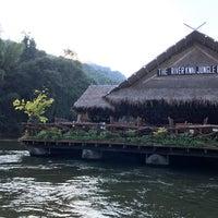 Photo taken at River Kwai Jungle Raft Floating Hotel Kanchanaburi by Myo Hlaing A. on 12/30/2016