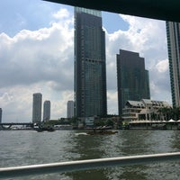 Photo taken at Wat Suwan Cross River Ferry Pier by Win T. on 10/28/2014
