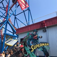 Photo taken at Superman Ultimate Flight by Michael F. on 8/18/2017