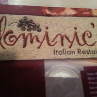 Photo taken at Dominic's Italian Restaurant by Chris Z. on 4/26/2013