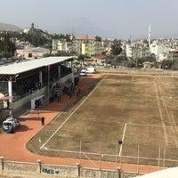 Photo taken at Mut İlçe Stadyumu by İbo K. on 2/11/2018