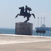 Photo taken at Άγαλμα Μεγάλου Αλεξάνδρου by SAHİR on 7/28/2014