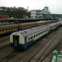 Photo taken at Stasiun Medan by Rykha S. on 4/23/2013
