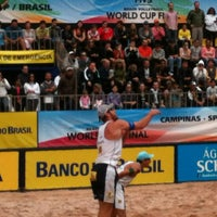 Photo taken at FIVB Beach Volleyball World Cup Final by Vanessa C. on 5/30/2013