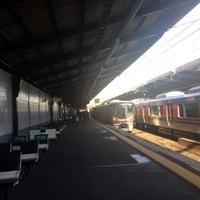 Photo taken at Ashiharabashi Station by kiriko on 1/2/2018