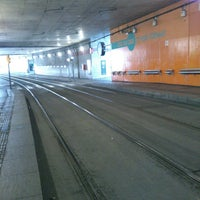 Photo taken at Tram T1/T2 Cornellà Centre by Lidia B. on 2/24/2013