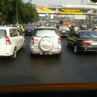 Photo taken at Jalan Jenderal Gatot Subroto by Yulita F. on 9/19/2012