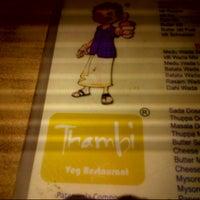 Photo taken at Tambi (Veg Restaurant) by Vikram G. on 3/29/2013