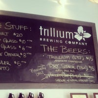 Photo taken at Trillium Brewing Company by Chad O. on 4/20/2013