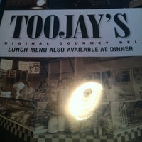 Photo taken at TooJay's Gourmet Deli by Diana H. on 1/12/2013