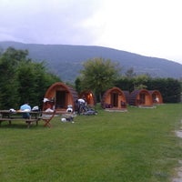 Photo taken at Camping Vall de Camprodon by Anna F. on 9/12/2014