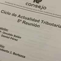 Photo taken at Consejo Profesional de Ciencias Económicas de la Ciudad Autónoma de Buenos Aires by Luciano G. on 7/12/2017