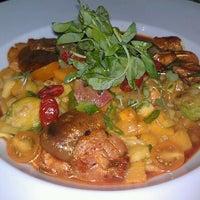 Photo taken at Blue Sage Vegetarian Grille by Sarah L. on 11/7/2012