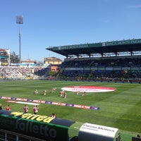 Photo taken at Stadio Ennio Tardini by Lorenzo D. on 4/14/2013