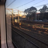 Photo taken at Strathfield Station (Platforms 1 & 2) by Thomas B. on 5/21/2017