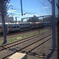 Photo taken at Strathfield Station (Platforms 1 & 2) by Thomas B. on 1/23/2017