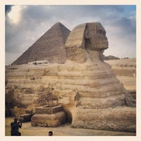 Photo taken at Great Sphinx of Giza by Jim T. on 11/12/2012