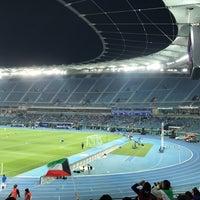 Photo taken at Jaber AlAhmad International Stadium by shima s. on 2/21/2017