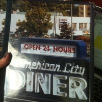 Photo taken at American City Diner by Elizabeth P. on 10/14/2012
