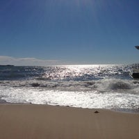 Photo taken at Plage de la Croisette by Margie F. on 10/15/2012