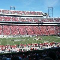 Photo taken at Sanford Stadium by Scott S. on 11/24/2012