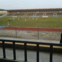 Photo taken at Stadion Kaharudin Nasution by Arunni C. on 10/24/2013
