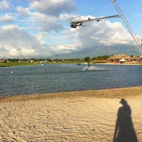 Photo taken at Camsur Watersports Complex (CWC) by Nini L. on 12/1/2012