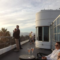 Photo taken at Hotel Shangri La Rooftop Bar by Van C. on 10/7/2012
