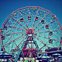 Photo taken at Deno's Wonder Wheel by tom c. on 5/27/2013