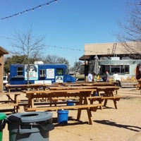 Photo taken at Clearfork Food Park by Kim K. on 2/28/2014