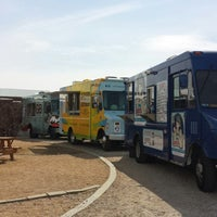 Photo taken at Clearfork Food Park by Kim K. on 3/7/2014