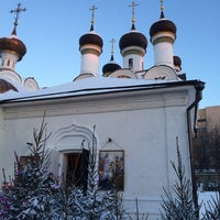 Photo taken at Храм Покрова Пресвятой Богородицы в Братцево by Alexey A. on 1/19/2014