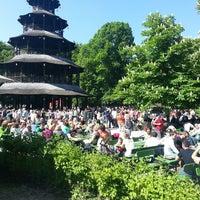 Photo taken at Biergarten am Chinesischen Turm by Vadym K. on 5/18/2013