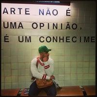 Photo taken at Metro Saldanha [AM,VM] by Kin H. on 1/13/2013